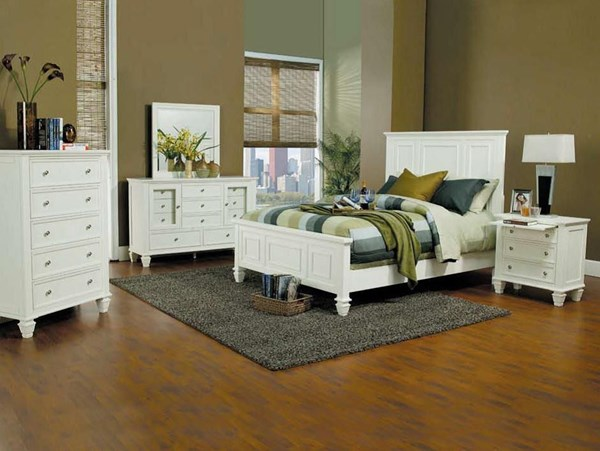 Sandy Beach Country White 2pc Bedroom Set W/Cal King CST-20130-S2