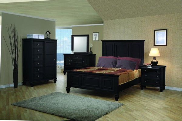 Sandy Beach Country Black 2pc Bedroom Set W/King Bed CST-20132-S1