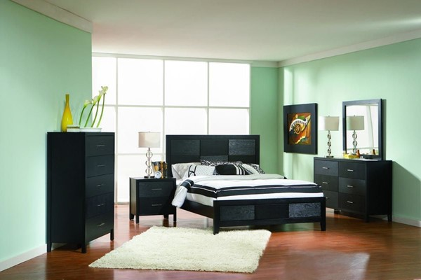 Grove Casual Black Wood Master Bedroom Set CST-20165