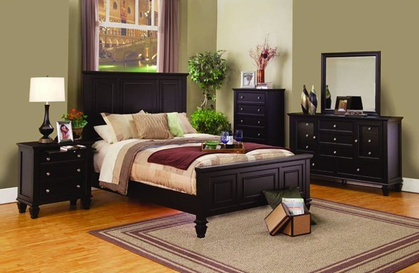 Sandy Beach Country Cappuccino Wood 2pc Bedroom Set W/Cal King Bed CST-201991KW-SET