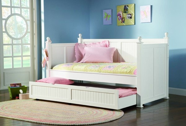 White Wood Trundle Daybed CST-300026