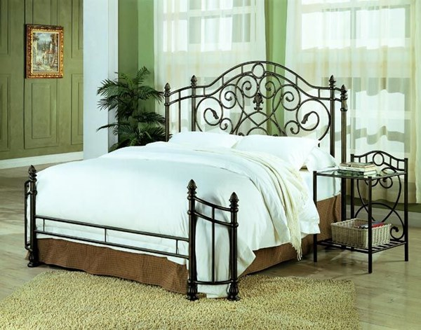 Violet Traditional Bronze Metal Bedroom Set CST-300161
