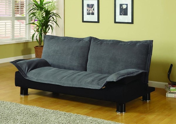 Casual Grey Brown Fabric Cushion Back Sofa Bed CST-300177