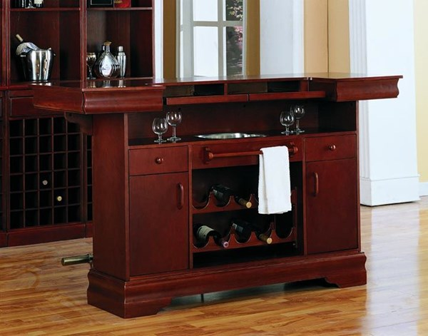 Traditional Cherry Wood Storage Bar Unit CST-3078B2