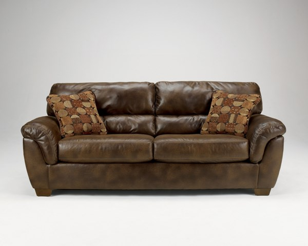 Frontier Casual Canyon Faux Leather Wood Sofa 3090038