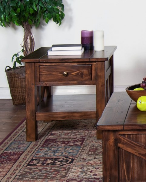 Ranch House Antique Brown Wood End Table 3227AB-E 3227AB-E