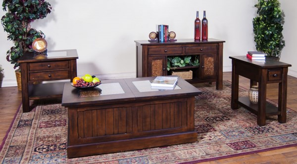 Woodland Dark Tobacco Trunk Coffee Table Set 3228DT-CT