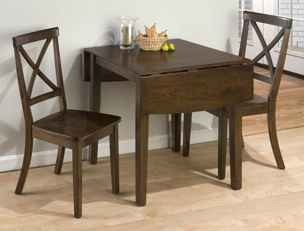 Taylor Contemporary Cherry Wood 3pc Dining Room Set JFN-342DT-set2