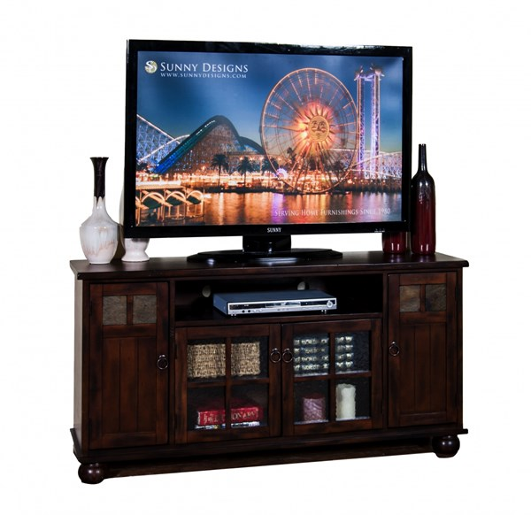 Santa Fe Dark Chocolate Wood TV Console 3460DC 3460DC