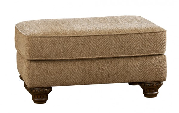 Cambridge Traditional Amber Fabric Ottoman 3940114
