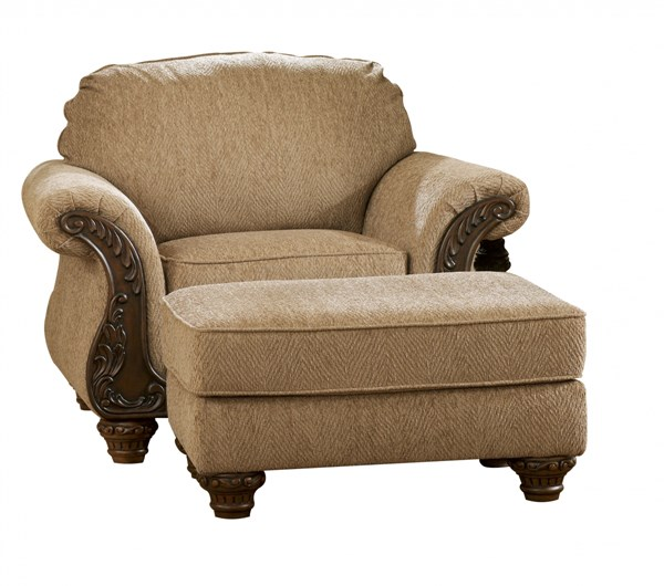 Cambridge Traditional Amber Fabric Wood Chair 3940120