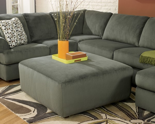 Jessa Place - Pewter Oversized Accent Ottoman 3980308