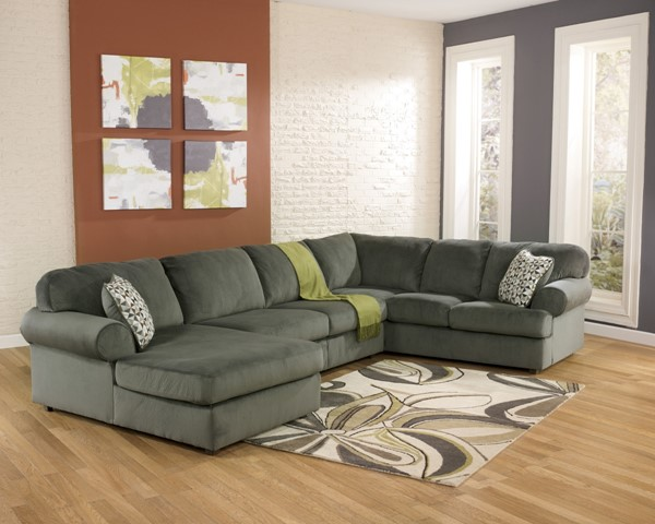 Jessa Place - Pewter Sectional (Left Side Chaise) 39803-S
