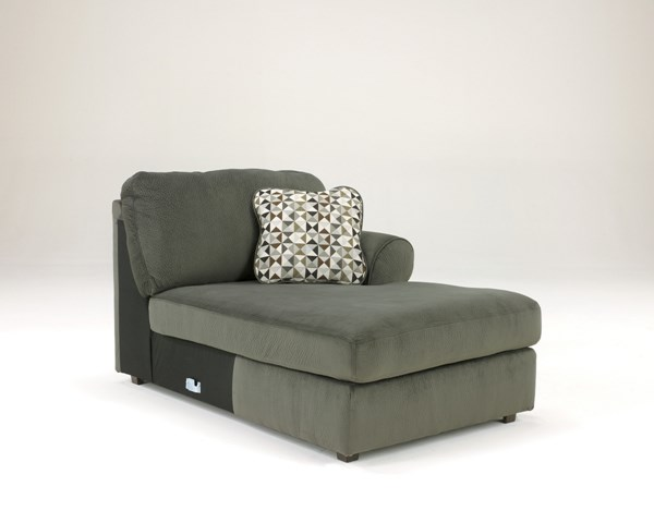 Jessa Place Contemporary Pewter Fabric RAF Corner Chaise 3980317