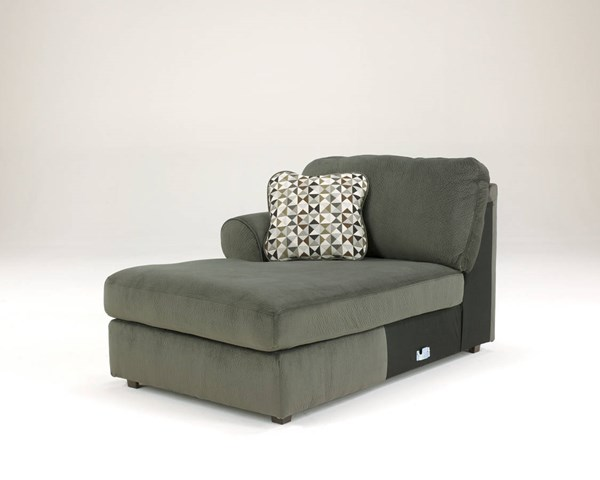 Jessa Place Contemporary Pewter Fabric LAF Corner Chaise 3980316