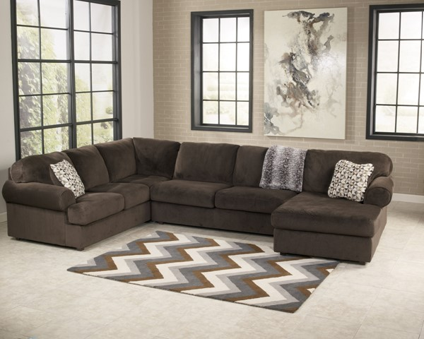 Jessa Place - Chocolate Sectional (Right Side Chaise) 39804-S1