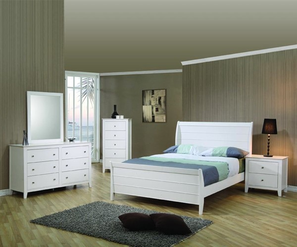 Selena Cottage White Wood 2pc Bedroom Sets CST-40023-S