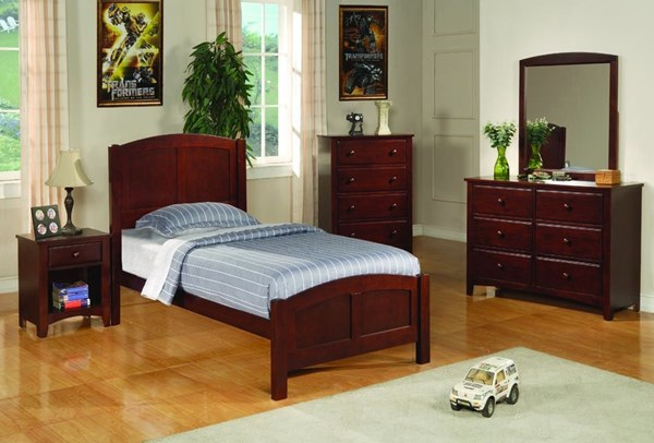 Parker Traditional Cappuccino 2pc Kids Bedroom Set W/Twin Bed CST-400291T-SET
