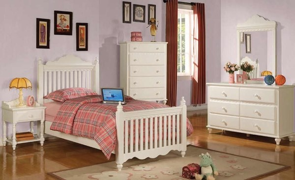 Traditional White Wood Poster Kids Bedrooms Set CST-G400363