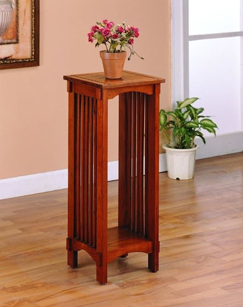 Warm Brown Wood Shelves Plant Stand CST-4040