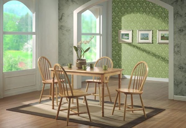 Casual Natural Wood Solid Top Dinette Set CST-G4347