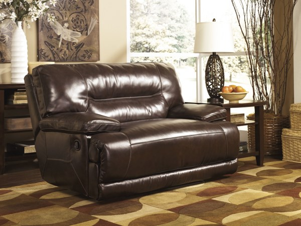 Exhilaration - Chocolate 0 Wall Recliners W/Wide Seat 424018-REC-VAR