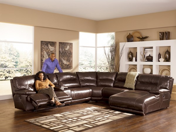 Exhilaration - Chocolate Sectional (right side Chaise) 42401SE2