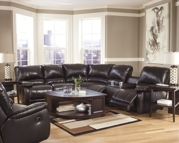 Capote DuraBlend Contemporary Chocolate Fabric Sectionals 44500
