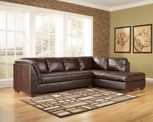 DuraBlend Contemporary Mahogany RAF Sofa Sectional 44800SE1