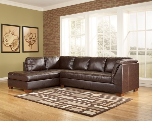 DuraBlend Contemporary Mahogany Fabric LAF Sofa Sectional 44800-S1