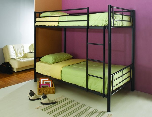 Contemporary Black Metal Twin/Twin Bunk Bed CST-460072B