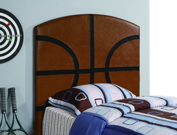 Brown Fabric Basketball Upholstered Headboard CST-460166