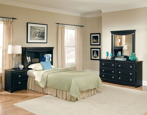 Carlsbad Dark Espresso Wood 2pc Bedroom Sets W/Panel Headboard std-50400-S
