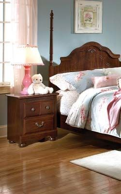 Jaqueline Rich Red Cherry Wood King Poster/Canopy Headboard std-56083