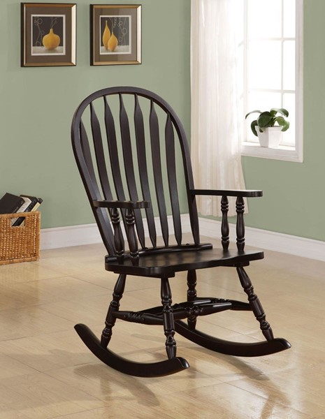 Traditional Cappuccino Wood Rocker CST-600186