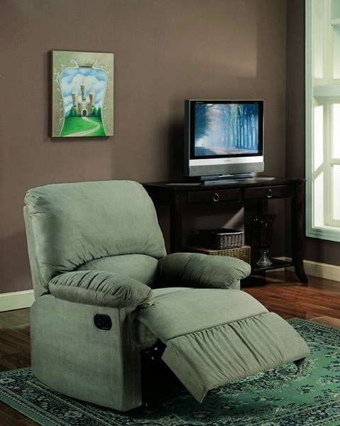 Casual Sage Microfiber Cushion Back Recliners CST-6002670