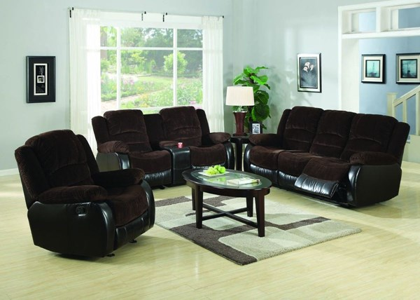 Johanna Casual Chocolate Corduroy Living Room Set CST-600363