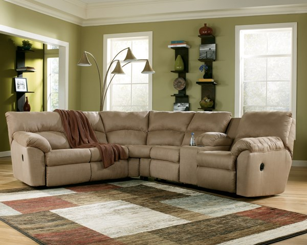 Amazon Contemporary Mocha Fabric LAF Reclining Loveseat 6170048