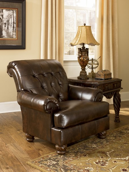 Fresco DuraBlend Traditional Antique Fabric Accent Chair 6310021