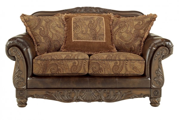 Fresco DuraBlend Traditional Antique Fabric Loveseat 6310035