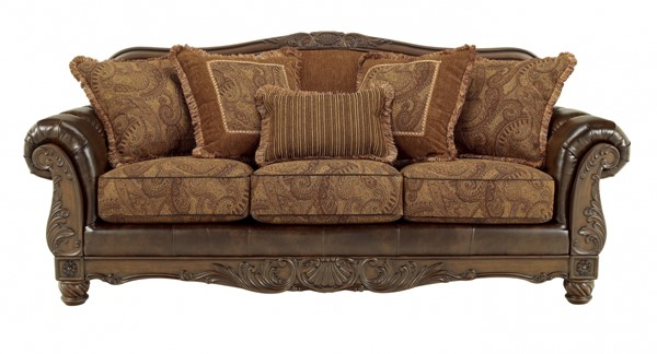 Fresco DuraBlend Traditional Antique Fabric Sofa 6310038