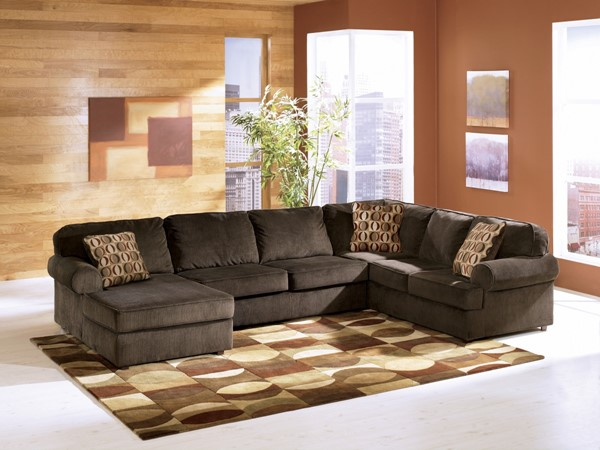 Vista - Chocolate Left Side Chaise Sectional 68404-S