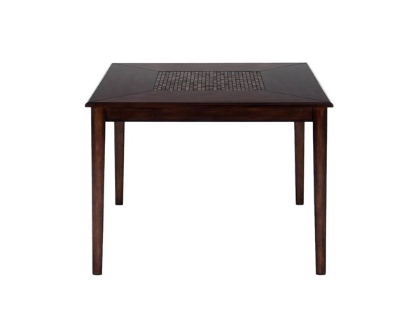 Baroque Contemporary Brown Wood Counter Height Square Table JFN-697-50