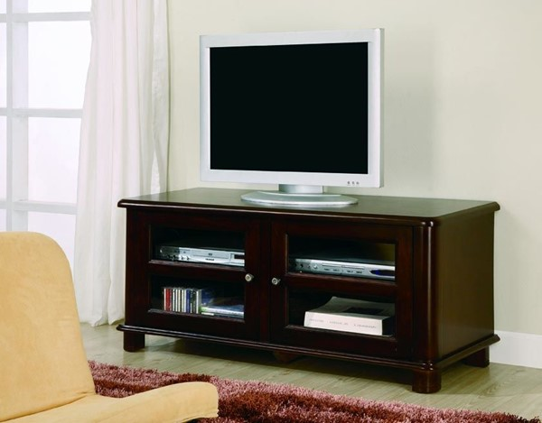 Merlot Wood Glass TV Stand/Armoire CST-700610