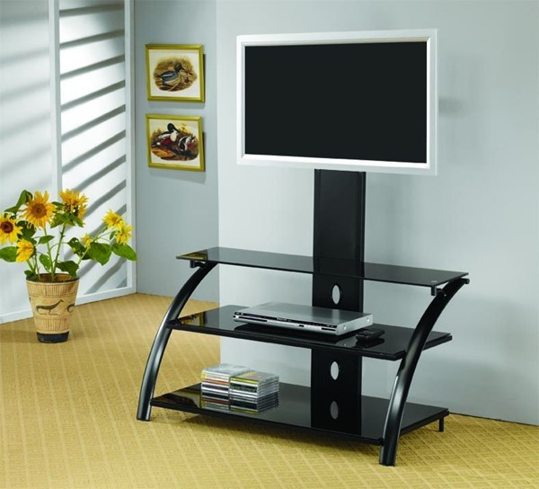 Black Metal TV Stand/Armoire CST-700617