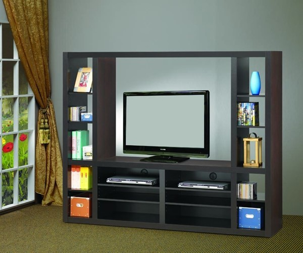 Coaster Furniture Cappuccino Wood TV Stand Armoire CST-700620
