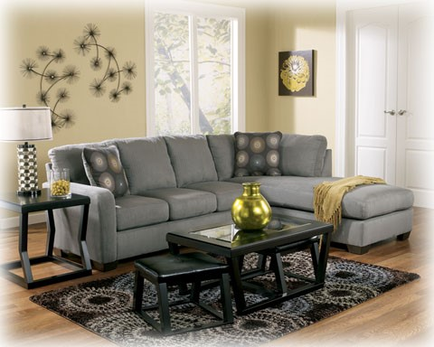 Zella - Charcoal Sectional (right side chaise) 70200-S1