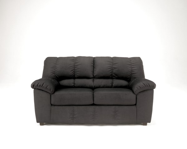 Dominator Contemporary Cafe Black Mocha Fabric Loveseat 715-loveseat