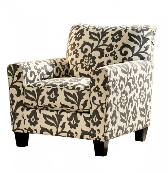 Levon Contemporary Charcoal Fabric Track Accent Chair 7340321