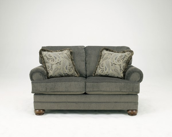 Parcal Estates Traditional Basil Fabric Loveseat 7400535